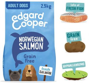 Edgard & Cooper Natural Dry Adult Dog Food - 2.5kg - Salmon - Grain Free, Protein & Hypoallergenic