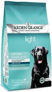 Arden Grange Adult Dry Dog Food Light with Fresh Chicken and Rice, 12 kg