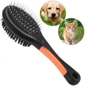 Dog Brush, Cat Brush, Dog Brushes for Grooming and Shedding, 2 in 1 Double Sided Pet Brush, Cat and Dog Grooming Brush, Slicker Massage Brush Dog Grooming Tools, for Dogs Short and Long Hair