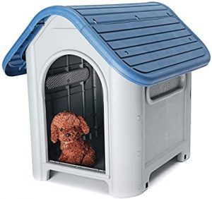 SMALL/LARGE OUTDOOR INDOOR GARDEN PET STRONG DOG ANIMAL SHELTER PLASTIC KENNEL HOUSE (SMALL)