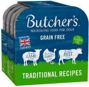 BUTCHER'S Wet Dog Food Trays Grain-Free Traditional Recipes 3.6kg (24 x 150g)