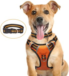 WINSEE Dog Harness No Pull, Pet Harness with Dog Collar