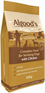 Algoods Working Dog Food Complete Dry Dog Food Chicken Flavour, 10 Kg