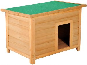 PawHut Wooden Dog Kennel Elevated Dog Pet House w/ Open Top 85W x 58D x 58H cm