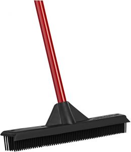 RAVMAG Rubber Broom & Squeegee for Pet & Human Hair