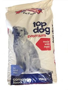 TopDog Premium Dog Food With Meat, Fish and Chicken for Working and Sporting Adult Dogs -15 Kilogram Dry Dog Food