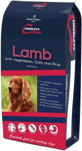 Chudleys Lamb Sensitive Hypoallergenic Dog Food with Vegetables, Oats and Rice, 15 kg
