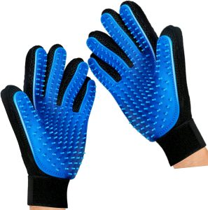 Mr. Peanut's Hand Gloves Dog & Cat Grooming & De-Shedding Aid