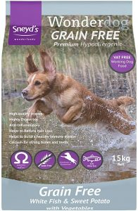 Wonderdog Grain-Free Complete Hypoallergenic White Fish & Sweet Potato with Joint Care 15 kg