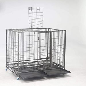 Homey Pet-49 Extra Large Metal Dog Cage - Heavy Duty Dog Crate