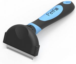 PetPäl Deshedding & Grooming Brush for Cats, Dogs | Professional Fur Comb for Short and Long Hair Pets in Salon Quality – Reduces Undercoat, Loose Hair, Tangles - Two Sizes for Small to Large Pets