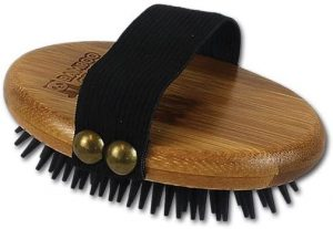 Bamboo Groom Palm-Held Brush for Pets