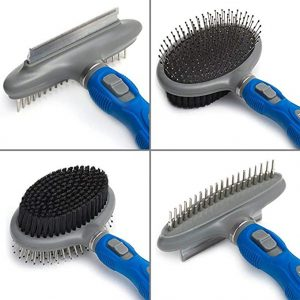 Friends Forever Dual Side 2 in 1 Pet Grooming Combo - Deshedding, Pin Bristle Dog Brush + Undercoat Rake & Comb Dogs Cat, Pet Supplies Tool Kit …