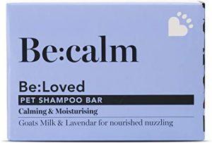 Be: calm Natural Dog Shampoo Bar Calming & Moisturising, Natural Ingredients Goats Milk & Lavender, Handmade in the UK - 110g Soap Bar