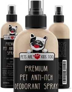 Premium Pet Anti Itch Spray & Scent Freshener! Natural ingredients & Hypoallergenic! Soothes Dogs & Cats Hot Spots, Itchy, Dry, Irritated Skin! Reduces Odor, Allergy Relief! Smells Amazing! (1 bottle)