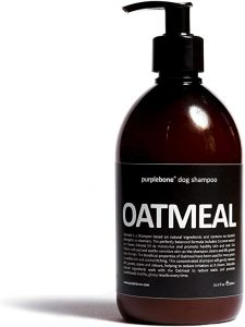 500ml - Purplebone Oatmeal Cleansing Dog Shampoo with Coconut for Reducing Irritation & Soothing Sensitive Skin