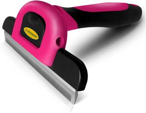 Deshedding Tool & Pet Grooming Brush for Small, Medium & Large Dogs, Cats & Horses, With Short to Long Hair. Dramatically Reduces Shedding In Under 10 Minutes