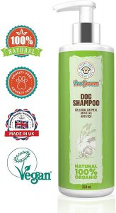 progroom Oatmeal Dog Shampoo Natural and Organic - Flea Shampoo Treatment and Itchy Skin Relief Formula - Grooming Puppy Sensitive Shampoo and Conditioner for Smelly Dogs