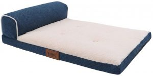 EMME Dog Bed for Small, Medium and Large Dogs T-Shape Bolster Pet Beds