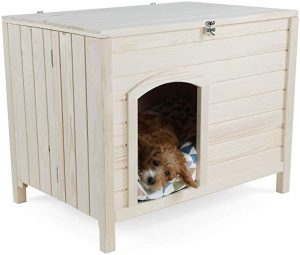 PETSFIT PORTABLE FOLDING WOOD DOG HOUSE