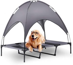 FIT CHOICE ELEVATED DOG BED WITH CANOPY