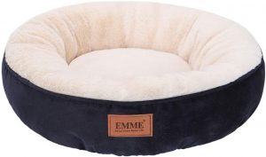 Emme Pet Donut Round Bed with Non-Slip Bottom