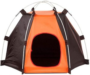 XZKING WATERPROOF PET DOG TENT HOUSE DETACHABLE PET HEXAGON KENNEL TENT