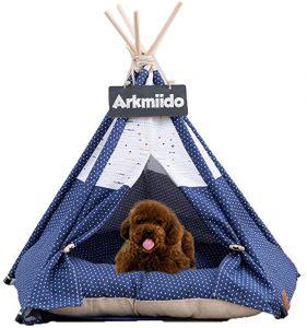 ARKMIIDO PET TEEPEE DOG BED WITH CUSHION