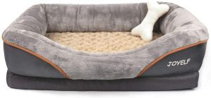 JOYELF Dog Bed Pet Bed with and Squeaker Toy as Gift