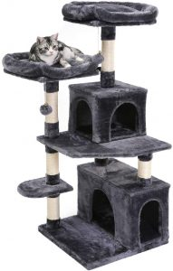 Superjare 48-Inches Cat Tree Tower, Multi-Level Kitten Play House