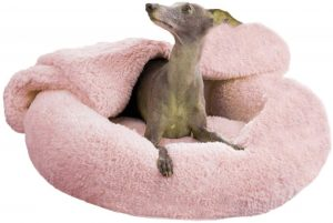 MTZRFLL WASHABLE DONUT DOG BED
