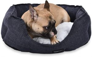 AMAZONBASICS ROUND CUDDLER BOLSTER PET BED