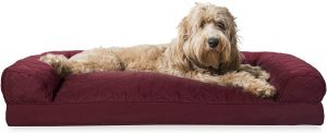 FURHAVEN PET-SOFA-STYLE DOG PILLOW BED