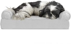 FURHAVEN PET- ORTHOPEDIC LIVING ROOM SOFA-STYLE COUCH DOG BED