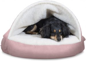 Furhaven Pet - Convertible Snuggery Burrowing Cave, Bed, & Around Hug Dog Bed for Dogs & Cats - Multiple Styles, Sizes, & Colors