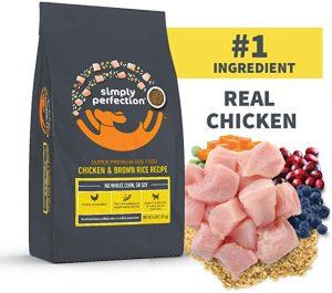 SIMPLY PERFECTION SUPER PREMIUM CHICKEN & BROWN RICE RECIPE DOG KIBBLE