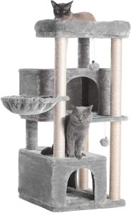 Hey-Brother Multi-Level Cat Tree Condo Furniture for Kittens