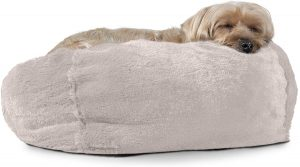 FURHAVEN PET- ORTHOPEDIC CHAISE LOUNGE, DELUXE L-SHAPED CHAISE COUCH