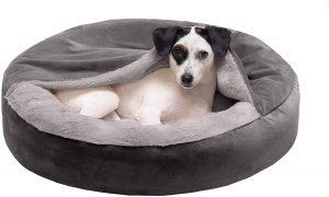 FURHAVEN PET- ROUND ORTHOPEDIC DOG BED