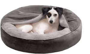 FURHAVEN PET ROUND ORTHOPEDIC DOG BED