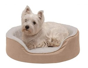 Furhaven Pet - Supportive Cuddler Nest Lounger Dog Bed for Dogs & Cats - Multiple Styles, Sizes, & Colors