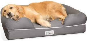 PetFusion Ultimate Dog Bed, Certi PUR-US Orthopedic Memory Foam, Size/Color Options, Medium Firmness Pillow, YKK Zippers
