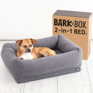 BARKBOX 2-IN-1 MEMORY FOAM DOG CUDDLER BED