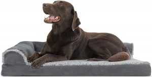 FURHAVEN PET-PLUSH ORTHOPEDIC SOFA DOG BED