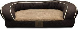 AMERICAN KENNEL CLUB ORTHOPEDIC & MEMORY FOAM COUCH SOFA STYLE DOG BED