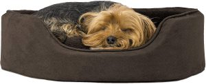 Furhaven Pet - Supportive Cuddler Dog Bed for Dogs & Cats - Multiple Styles, Sizes, & Colors