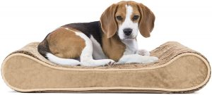 Furhaven Pet - Plush Ergonomic Contour Cradle Orthopedic Foam Mattress Dog Bed for Dogs & Cats - Multiple Styles, Sizes, & Colors