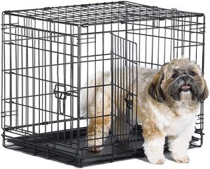 New World Folding Metal Dog Crate with Single & Double Doors