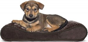 FURHAVEN PET- PLUSH ERGONOMIC CONTOUR CRADLE ORTHOPEDIC FOAM MATTRESS DOG BED