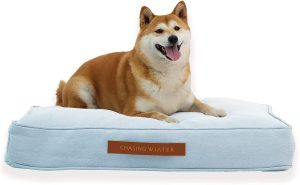 CHASING WINTER MEMORY FOAM PLATFORM DOG BED